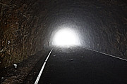 Blue Ridge Mountains Posters - Light at the End of the Tunnel Poster by John Haldane