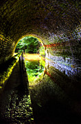 Waterway Photos - Light At The End Of The Tunnel by Meirion Matthias