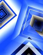 Light Blue Print by Mario  Perez