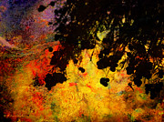 Silhouette Digital Art Prints - Light Bursting Forth Abstract Print by J Larry Walker