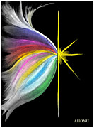 Creation Pastels Posters - Light Emerging Poster by Ahonu