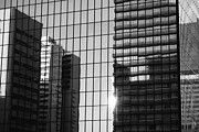 Squares. Linear Metal Prints - Light Fading in Downtown Tokyo Metal Print by Dean Harte