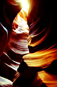 Floods Photos - Light From Above - Canyon Abstract by Aidan Moran