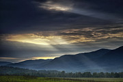 Smoky Mountains Posters - Light from the Heavens Poster by Andrew Soundarajan