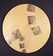 Contemplative Paintings - Light Gold #01002 by Zee Zee Light