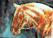 Unique Art Drawings Prints - Light Horse Print by Juan Jose Espinoza