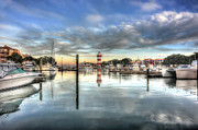 light house harbour town Hilton Head Print by Dan Friend