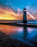 Adrian Evans - Light House Sunset