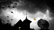 Weather Vane Prints - Light In The Window Print by Bob Orsillo