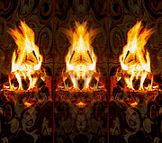 Pateros Digital Art Posters - Light My Fire Poster by Omaste Witkowski