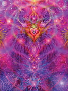 Light Of Passion Reborn Print by Alixandra Mullins