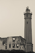 Alcatraz Light House Framed Prints - Light of the Rock Framed Print by Patty Descalzi