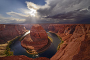 Canyonland Prints - Light over the River Print by Christian Heeb
