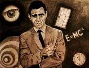 Twilight Zone Drawings - Light Shadow Science And Superstition by Jeremy Moore