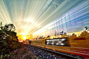 Trippy Posters - Light Speed Poster by Matt Molloy