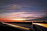 Trippy Posters - Light Speed Sunset Poster by Matt Molloy