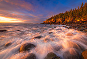 Maine Coast Prints - Light Surge Print by Joseph Rossbach