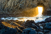 Light The Way - Arch Rock In Pfeiffer Beach In Big Sur. Print by Jamie Pham