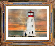 Timing Prints - Light the Way Print by Betsy A Cutler East Coast Barrier Islands