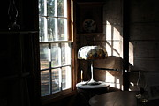 Cabin Window Framed Prints - Light Through Cabin Window Framed Print by Theresa Willingham