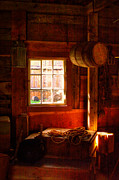 Granary Photos - Light Through the Barn Window by David Patterson