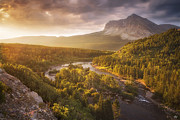 Peter James Nature Photography Posters - Light Through the Valley II Poster by Peter Coskun