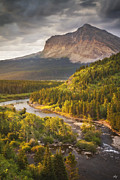 Peter James Nature Photography Posters - Light Through the Valley Poster by Peter Coskun