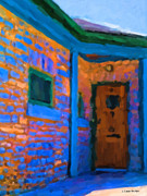 Blue Brick Pastels Prints - Light to the Door Print by Jo-Anne Gazo-McKim