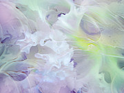 Womanly Posters - Light Touch of Tenderness. Petals Abstract Poster by Jenny Rainbow