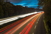Highway Lights Prints - Light Trails 01 Print by Tom Uhlenberg