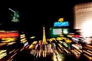 Paris Las Vegas Hotel And Casino Posters - Light trails abstract 5 Poster by Anthony Morgan
