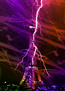Storm Prints Digital Art Posters - Light Up the Tower Poster by Michael Knight