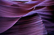 Sandstone Slot Canyon Photo Acrylic Prints - Light Waves Acrylic Print by Mike  Dawson