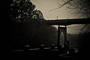Waccamaw River Prints - Lighted Bridge Print by Jessica Brown