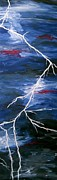 Thunder Paintings - Lightening Bolt Painting by Laura  Carter