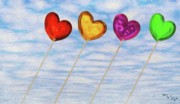 Hearts Digital Art - Lighter than Air by Jeff Kolker