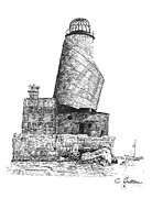 Lighthouse Drawings - Lighthouse 2 by C Sitton