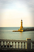 Lighthouse Digital Art - Lighthouse - Alexandria Egypt by Mary Machare