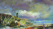 Julianne Felton - Lighthouse and fisherman