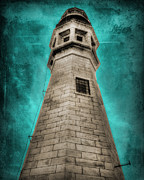 1833 Digital Art Posters - Lighthouse Art Poster by Cindy Haggerty