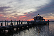 Shallowbag Bay Prints - Lighthouse at Dawn Print by Gregg Southard