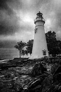 Lighthouses Digital Art Prints - Lighthouse At Marblehead Print by Dale Kincaid