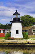 New England Lighthouse Digital Art - Lighthouse at Mystic Seaport by John Hoey