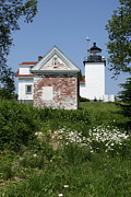 Keepers House Photos - Lighthouse At Penobscot River by Christiane Schulze
