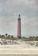 Ponce Framed Prints - Lighthouse At Ponce Inlet Framed Print by Deborah Benoit