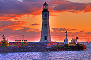 All - Lighthouse at Sunset by Don Nieman