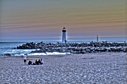Santa Cruz Art - Lighthouse at Twlight 2 by SC Heffner