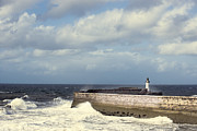 Stormy Art - Lighthouse At Whitehaven by Christopher and Amanda Elwell