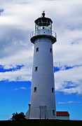 New Zealand Pyrography Prints - Lighthouse Auckland Print by Ben Yassa