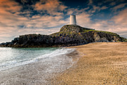 Monument Digital Art Prints - Lighthouse Beach Print by Adrian Evans